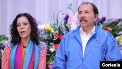 La vicepresidenta Rosario Murillo fue sancionada por influenciar sobre la organización juvenil del Frente Sandinista de Liberación Nacional (FSLN), y la Policía Nacional. Foto: El 19 Digital.