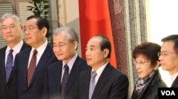 台湾府院首长赴立法院向王金平院长报告马习会相关事宜(美国之音李逸华拍摄)
