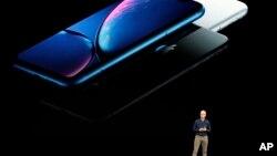 美国苹果公司CEO库克在加州举行的新品发布会上讲话。(2018年9月12日)