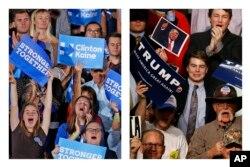 Klinton və Tramp tərəfdarları