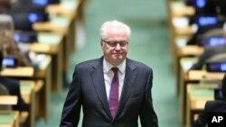 20일 별세한 비탈리 추르킨 유엔주재 러시아대사.
