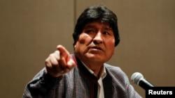 A finales del mes de noviembre de 2019, el gobierno interino de Bolivia difundió un audio en el que presuntamente Morales ordenaba cercar la ciudad de La Paz. Foto de archivo del 20 de noviembre de 2019.