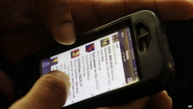 Study says growth across Africa is driven by use of mobile devices, March 2011 (file photo).