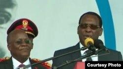 Rais John Magufuli na Mwenyekiti wa Chadema Freeman Mbowe