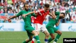 Saudi Arabia team before the game