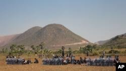 Myanmar Mine Protest