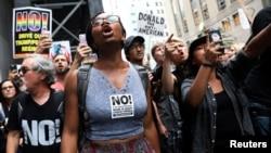 Une manifestation pour plus de justice raciale, à New York, 14 août 2017.