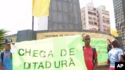 Manifestação da oposição em Luanda