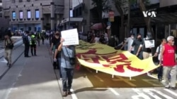 香港市民週五中環快閃抗議要求追究暴警