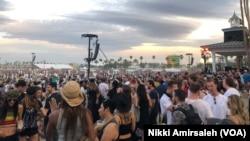 Suasana Festival Musik Coachella di California, tahun 2018. (Foto: dok).