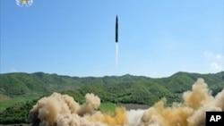 2017年7月4日,朝鲜进行了一次洲际弹道导弹发射。