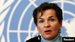 FILE - Christiana Figueres, executive secretary of the U.N. Framework Convention on Climate Change.