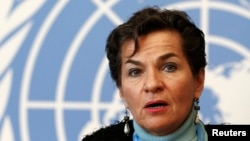 The expansion of the draft climate change pact will complicate later talks, Christiana Figueres, executive secretary of the U.N. Framework Convention on Climate Change, said after a week of meetings in Geneva, Feb. 13, 2015.