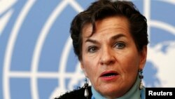 FILE - Christiana Figueres, executive secretary of the United Nations Framework Convention on Climate Change