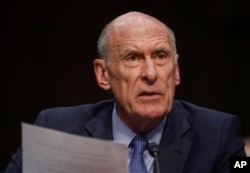 """Persistent and disruptive cyber and influence operations will continue against the United States and European countries and other allies,"" Director of National Intelligence Dan Coats tells the Senate Armed Services Committee on Capitol Hill in Washington, March 6, 2018."