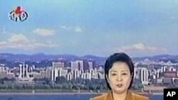 North Korean television broadcast