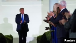美国总统特朗普2020年8月25日出席在白宫举行的一场活动(路透社)