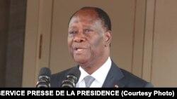 Le président ivoirien Alassane Ouattara, 31 octobre 2016