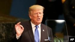 آقای ترمپ نخستین سخنرانی اش را به صفت رئیس جمهور امریکا در مجمع عمومی ملل متحد ایراد کرد