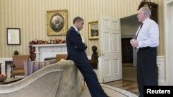 Tổng thống Hoa Kỳ Barack Obama và Cố vấn chống khủng bố John Brennan tại Tòa Bạch Ốc.