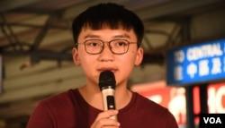 香港眾志常委鄭家朗。(美國之音湯惠芸)