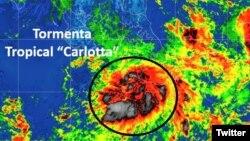 La tormenta tropical Carlotta se formó el viernes por la tarde cerca al turístico puerto de Acapulco, en el sur del pacífico mexicano.