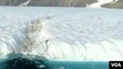 Ogromna santa leda se nedavno odvojila od Greenlanda