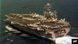 Foto de archivo del portaaviones USS Nimitz.