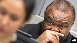 L'ancien vice-président congolais Jean-Pierre Bemba lors d'une audience à la Cour pénale internationale, la Haye, Pays-Bas, 21 mars 2016