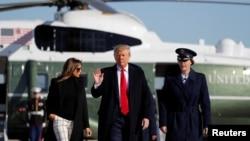 Tổng thống Trump và phu nhân chuẩn bị lên chuyên cơ đi thăm Ấn Độ hôm 23/2.