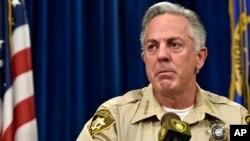Clark County Sheriff Joe Lombardo speaks at a news conference, Dec. 21, 2015, in Las Vegas.