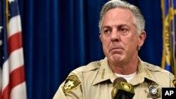 Sheriff Las Vegas, Joe Lombardo berbicara dalam konferensi pers (foto: dok).