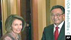 吴邦国会晤美国国会参众两院领袖