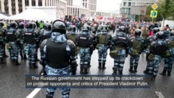 Crackdown on Political Opposition in Russia