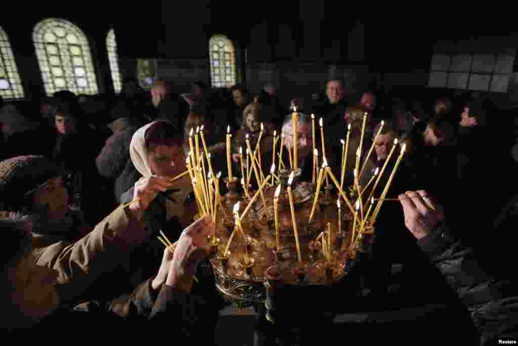 Рождественская служба в соборе Александра Невского в Софии