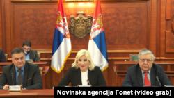 Ministarka građevinarstva, saobraćaja i infrastrukture Zorana Mihajlović na sastanku sa MMF