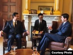 台湾立法院长苏嘉全拜会美国联邦众议院议长保罗瑞安Paul Ryan (台湾驻美代表处)