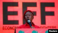 Julius Malema, lider dos Combatentes da Liberdade Económica