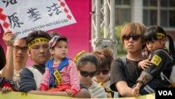 台湾原住民尤其反对将自己的家园当作核废料的储存地。(美国之音方正拍摄)
