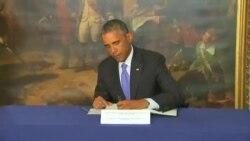 باراک اوباما دفتر یادبود قربانیان حمله به شارلی ابدو را امضا کرد