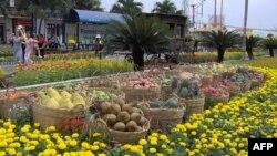 Ðường hoa Nguyễn Huệ ở TP. Hồ Chí Minh.