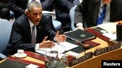 Presidente Barack Obama durante el Consejo de Seguridad de la ONU.