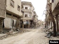 La vieille ville de Homs dévastée par les bombardements de l'armée syrienne