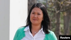Keiko Fujimori, the daughter of disgraced ex-president Alberto Fujimori, remains the clear favorite to win presidential elections in Peru next year, an Ipsos poll showed on Dec. 13, 2015.