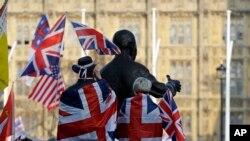 Protest pristalica Bregzita u Londonu