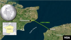 Location of the Eurotunnel