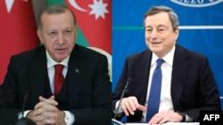 Recep Tayyip Erdogan and Mario Draghi
