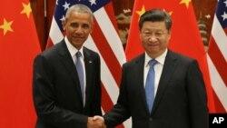 中国国家主席习近平9月3日与出席G20领导人杭州峰会的美国总统奥巴马举行会晤