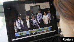 一名觀眾8月9日從網絡上觀看谷開來出庭受審情形