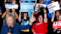 Demokrat namizəd Hillari Klintonun tərəfdarları